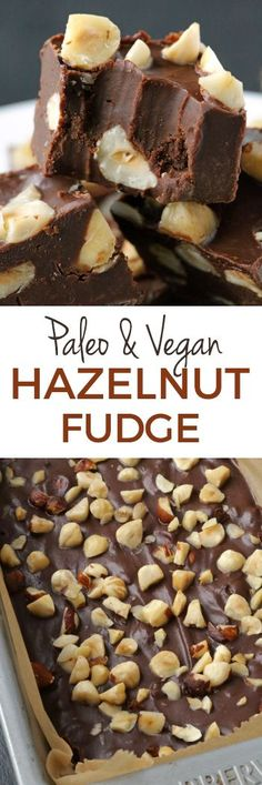 This rich and creamy chocolate hazelnut fudge is full of hazelnut flavor thanks to the addition of hazelnut butter! Paleo-friendly, vegan and gluten-free.