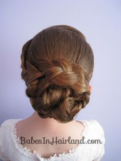 Braid & Knotted Bun Updo | Babes In Hairland