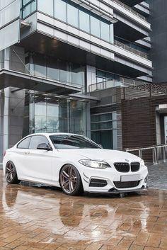 BMW F22 2 series white #bmw #cars #tyres