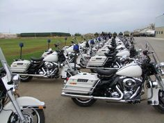 Harley Davidson police motorcycles