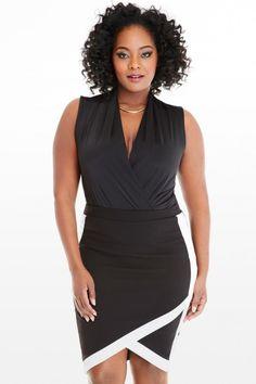 Plus Size Venecia Wrap Front Bodysuit | Fashion To Figure #PlusSizeClothing
