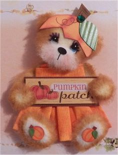 pumpkin tear bear
