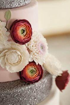 Elegant Winter Wedding with Such Gorgeous Ideas via Kara's Party Ideas KarasPartyIdeas.com #winterwedding #weddingcake #weddingideas #weddin...