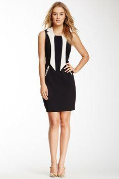 Yumi London Pique Effect Neck Tie Dress on HauteLook