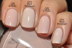 Orly Pure Porcelain and OPI Let Them Eat Rice Cake