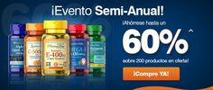 EVENTO SEMIANUAL  Ahórrese hasta un ¡60%! en los productos escogidos para la oferta. Mire cuáles en el link a continuación: http://es.puritan.com/a-z/evento-semi-anual/?scid=29138