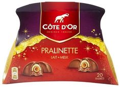 COTE D'OR Pralinette milk chocolate Côte d'Or Pralinette are delicious milk chocolate pralines filled with a crunchy praline with a heart and a creamy cream. Each box contains 20 pralinettes Buy the best chocolate: www.chockies.net