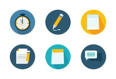Colorful circular icons suitable for every business.
