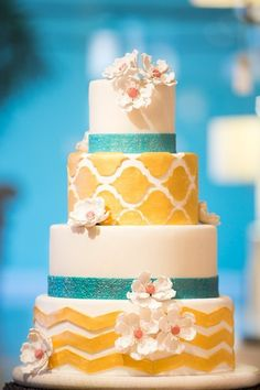 Patterned Wedding Cakes Wedding Cakes Photos on WeddingWire