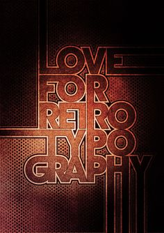 Typowall ♠ Love For Retro Typography by Vector Hugo