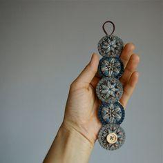 Penny Wool Felt Bracelet Wristband Cuff ø by LoftFullOfGoodies, $28.00