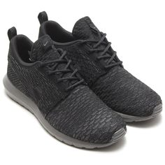 #Nike Flyknit Roshe Run NM Black/Black-Midnight Fog #sneakers