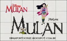 Salve o Monograma completo aqui: http://dinhapontocruz.blogspot.com.br/2014/05/monograma-princesa-mulan-disney.html