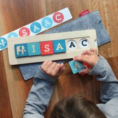 Wooden Name Blocks Puzzle ~ tinyme.com 1st birthday idea