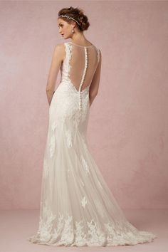 everything I love in a wedding dress! really starting to like the sheer part as well