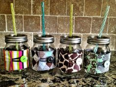 Mason Jar Cozy / Fabric Mason Jar Sleeve  DESIGN by ckstitches, $8.00