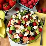 Okay - I am only guessing this is healthy, but if not I'm going to eat it anyway...mmm Triple-Berry Summer Salad