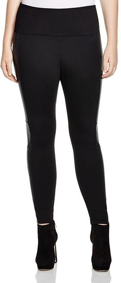 Lyssé Plus Faux Leather Panel Leggings >>> Find out more about the great product at the image link.