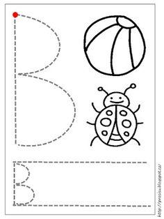 Pro Šíšu: Abeceda píšeme písmena Montessori, Printables, Activities, Education, Alphabet, Speech Language Therapy, Preschool, Kids, Print Templates