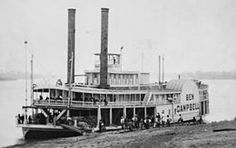 Paddle steamer - a side-wheeler from the 1850's