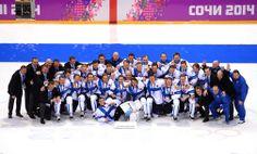 Winter Olympics 2014, Sochi - Ice hockey,  men's bronze medal. --  Näin leijonat juhlivat - katso kuvat | Sotshi 2014 | Iltalehti.fi