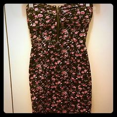 Last chance! Love Culture Strapless Floral Dress Love Culture Strapless Floral Dress with a Cute Zipper on Bodice - worn twice and didn't fit me after two times. The floral pattern is gorgeous! Love Culture Dresses Mini