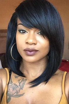 10 New Black Hairstyles With Bangs Straight Hairstyles
