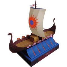 Viking craft,Vehicles,Paper Craft,Europe,Norway,brown,ship