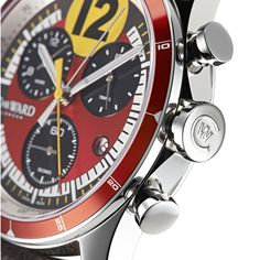Christopher Ward C70-352 GT Chronometer Stunning C70-352 GT Chronometer with embedded rare Ferrari 250 GTO piece (See more at http://watchmobile7.com/articles/christopher-ward-c70-352-gt-chronometer) #watches #christopherward @chrwardlondon @chriswardlondon