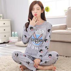 aceb1214ba New Listing Wavmit Spring Pyjamas Women Carton Cute Pijama Pattern Pajamas  Set Thin Pijamas