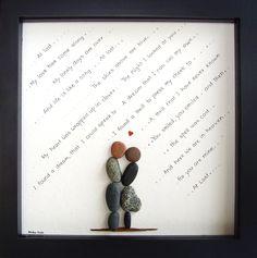 Custom Wedding Gift - Anniversary Gift - First Dance Song Lyrics - Wedding Song Lyrics - Bride Groom Gift - Pebble Art by MedhaRode www.etsy.com/shop/MedhaRode