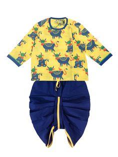 c39db849f Buy Cow Print Dhoti Kurta Set Infant Boy Cow Print, Trendy Collection,  Infant,