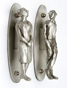 Merveilleux Unique Door Pulls (pewter)