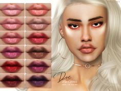 The Sims 4 Doe Lip Gloss by Pralinesims Sims 4 Teen, My Sims, Sims Cc, Sims 4 Mods Clothes, Sims Mods, The Sims 4 Skin, Sims 4 Traits, Sims 4 Collections, Sims 4 Gameplay