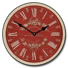 Charmant Red Clock