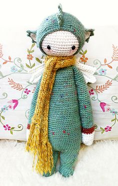 "Ravelry: ""DIRK"" - Doll Project No. VI - Dragon, Dinosaur pattern by Lydia Tresselt."