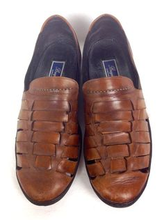Cole Haan Bragano Loafers 12 Brown Leather Casual Shoes Italy Mens #ColeHaan #LoafersSlipOns