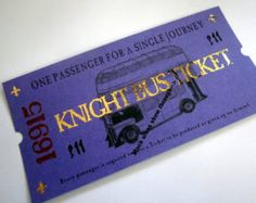 Harry Potter Knight Bus Ticket (fehlerhaft)                                                                                                                                                                                 More