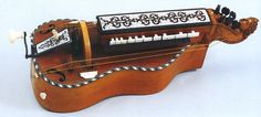 Hurdy-gurdy in the Museum of Musical Instruments of the University of Leipzig