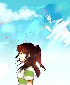 Ghibli - Spirited Away - Chihiro and Haku Hayao Miyazaki, Kimi No Na Wa, Totoro Merchandise, Chihiro Y Haku, Secret World Of Arrietty, Grave Of The Fireflies, The Cat Returns, Naruto, Studio Ghibli Movies