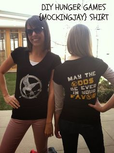 DIY Hunger Games Mockingjay Shirt. perfect timing for Catching Fire movie release! #silhouette #cameo #hungergames