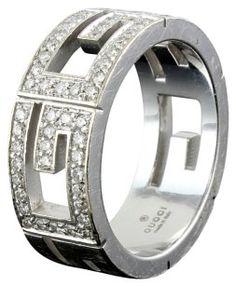 326cc50ce88 Gucci Gucci 3G Diamonds on 18k White Gold Band White Gold Jewelry