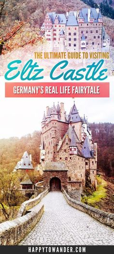 Burg Eltz Castle (Burg Eltz in German, Eltz Castle in English) is by far one of the prettiest fairytale castles in Germany. Click through for a comprehensive guide on visiting Burg Eltz Castle for yourself, including how to get there, what to do there and Visit Germany, Germany Travel, Germany Berlin, Munich, Dusseldorf Germany, Germany Europe, Places To Travel, Travel Destinations, Places To Visit