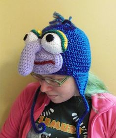Gonzo Muppet Crochet Earflap Hat Made to Order All Sizes