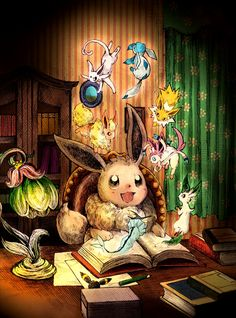(Day 17) I'm gonna go with Eevee as the pokemon I'd choose to be because I'd have the potential to become so many awesome pokemon!