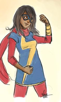 Quick sketch Kamala Khan fanart by nyanlatte