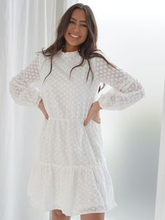 Simple Dresses, Cute Dresses, White Dress Summer, Summer Dresses, Teenage Girl Outfits, Pinterest Fashion, Hijab Fashion, Fasion, Dress To Impress