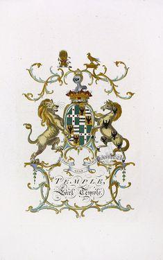 Heraldic Crests Antique Prints from Jacob c1790
