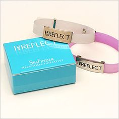 """Great idea for athletes when outdoors. Melanoma Bracelet - Find on SpaFinder and raise awareness about early melanoma detection & prevention by buying an """"I Will Reflect"""" bracelet. It changes color when exposed to harmful UV rays. SpaFinder is a proud sponsor of the Skin Cancer Foundation."""