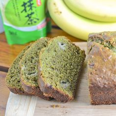 This green tea banana bread recipe combines the bitterness of green tea with the sweetness of ripe bananas. After 50 minutes of baking it turned out moist and delicious.